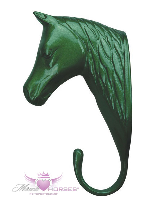 Kleiderhaken Trensenhaken Pferdekopf Aluminium in vielen Farben NEU