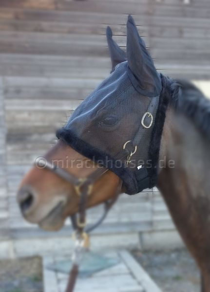 Imperial Riding Fliegenmaske Luxury Schwarz, Gr. Pony