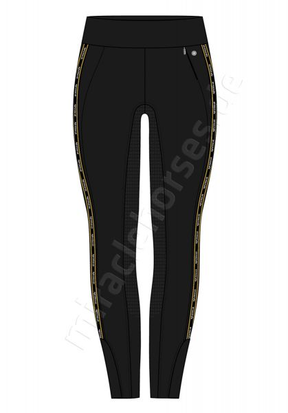 HV Polo Reitleggings Mae FSS, Black/Gold