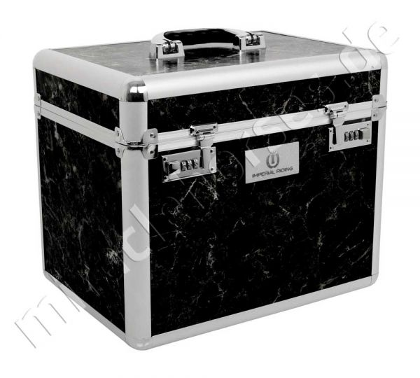 Imperial Riding Putzbox Shiny, Black Marble/Silver