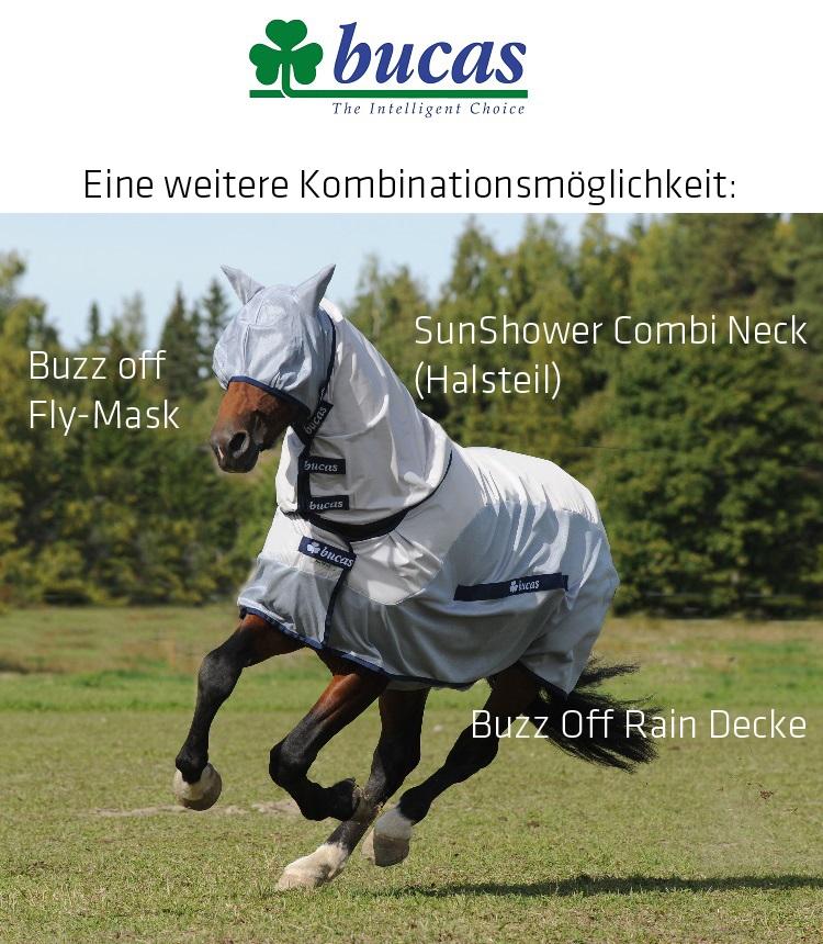 BUCAS Sun Shower Combi Neck Halsteil Decken-Halsteil Halsdecke Pferdedecke