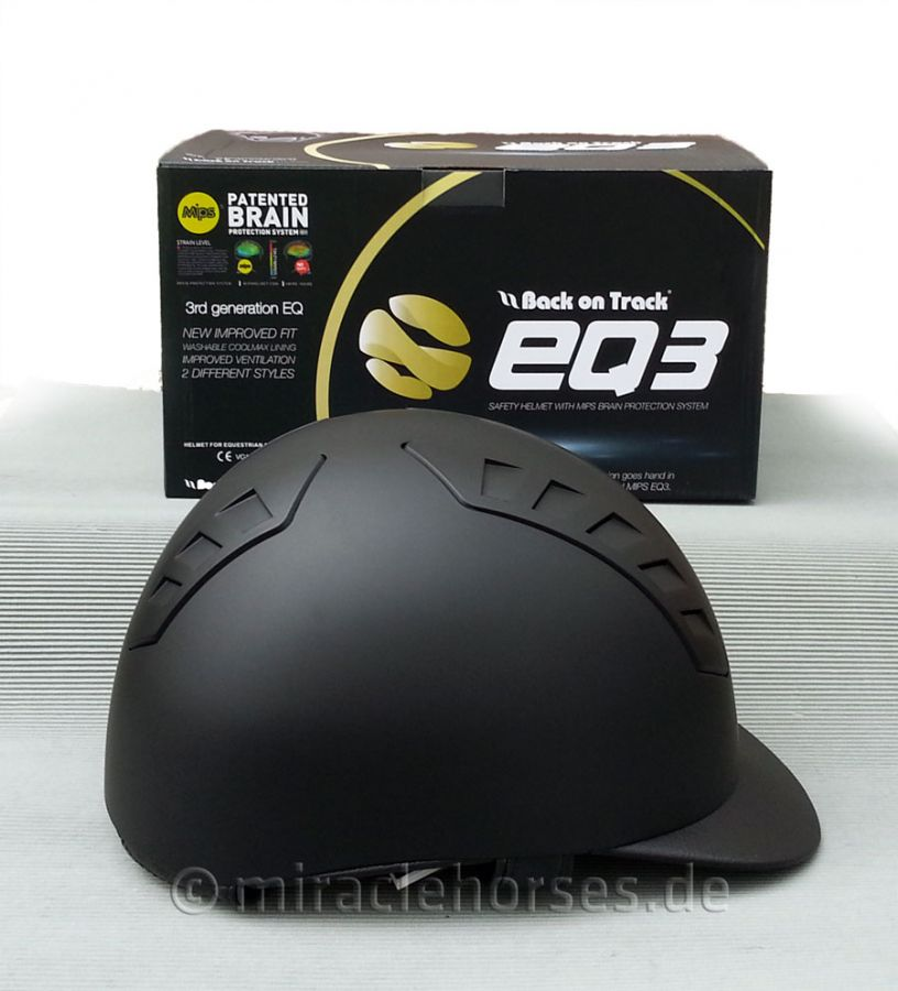 Back on Track EQ3 Reithelm Smooth Shell, schwarz