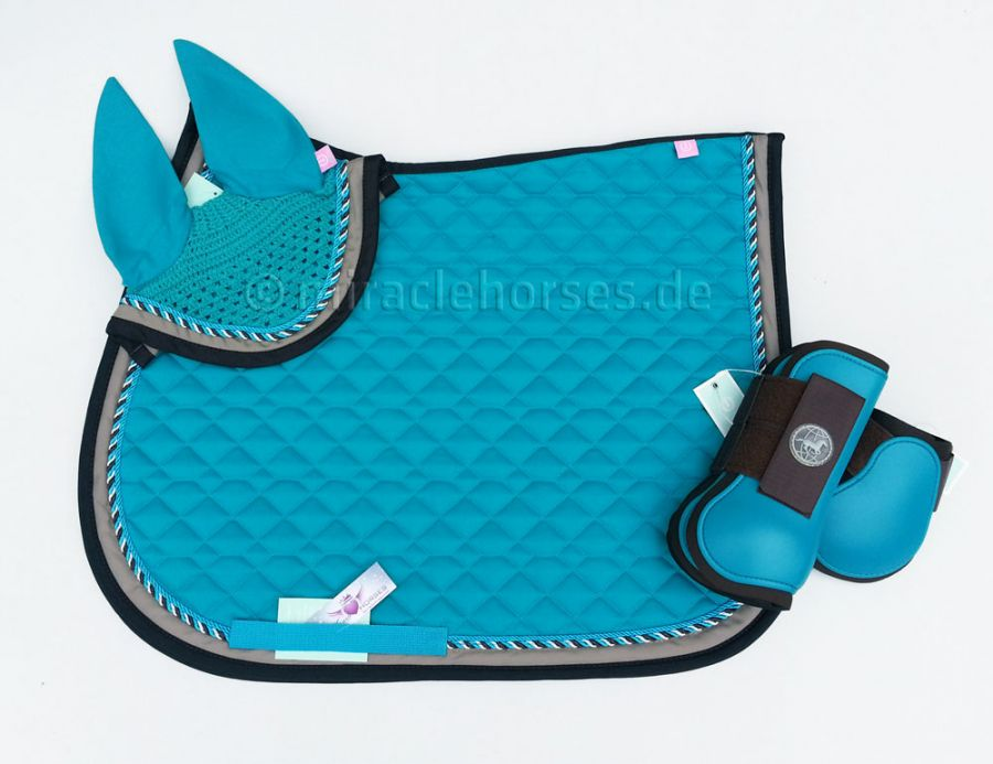 Miracle horses reitsportbedarf online shop rund um pferdebedarf reitbekleidung stallzubeh r - Schabracke braun ...