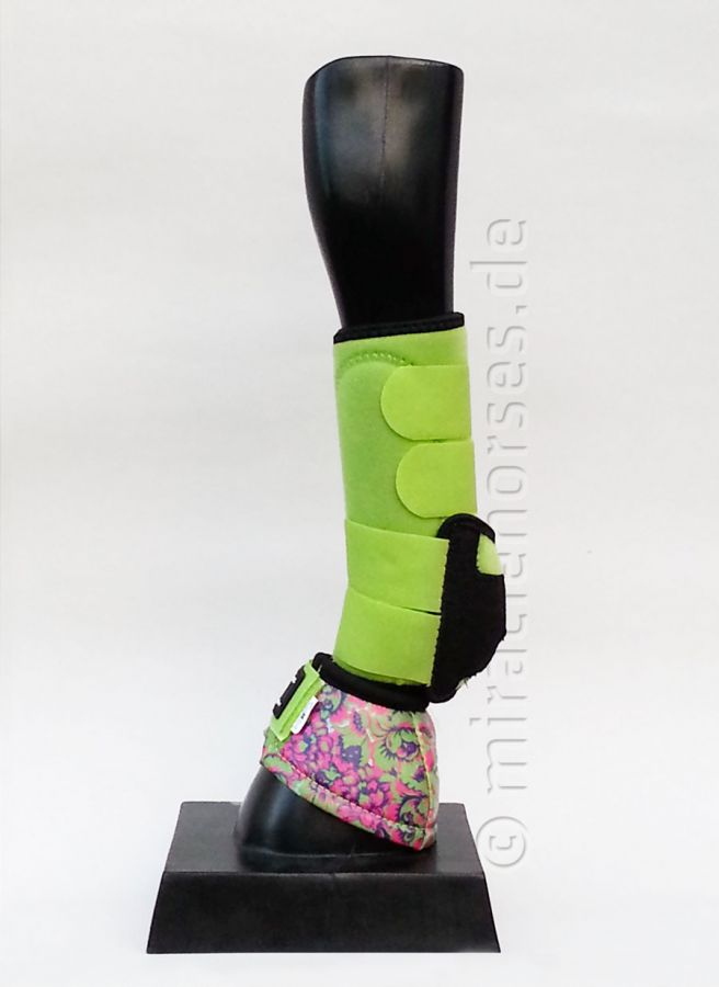 Classic Equine SET: Legacy Protective Front Boots & No Turn DL™ Bell Boots Lime