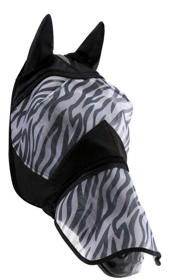 Horse Guard Zebra Anti-UV Fliegenmaske Complete